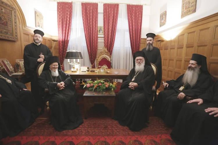 Συνάντηση Οικουμενικού Πατριάρχη με Αρχιεπίσκοπο