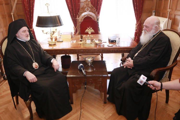 Ο Αρχιεπίσκοπος Αμερικής στον Αρχιεπίσκοπο Αθηνών