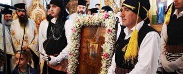 Υποδοχή Αγίου Γεωργίου Περιστερεώτα στον Άγιο Γεώργιο Νέας Χηλής (ΦΩΤΟ)