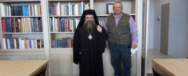 Ο Κωνσταντίνος Καραμανλής στη Βιβλιοθήκη της Μητροπόλεως Χίου