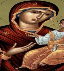 Αγρυπνία Παναγίας Οδηγήτριας στα Τρίκαλα Η θαυματουργή εικόνα της Παναγίας της Οδηγήτριας
