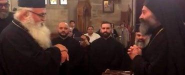 Υποδοχή Μητροπολίτου Πάφου από τον Αρχιεπίσκοπο Αυστραλίας