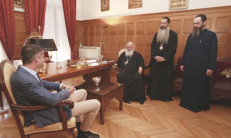 Συνάντηση Αρχιεπισκόπου με τον Κώστα Μπακογιάννη