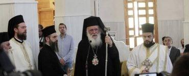 Τα ονομαστήρια του Αρχιεπισκόπου στο Ησυχαστήριο του Αγίου Πορφυρίου