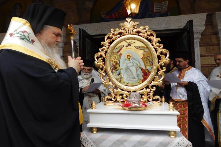 Η Υποδοχή της καρδίας του Αγίου Λουκά στην Καλαμαριά