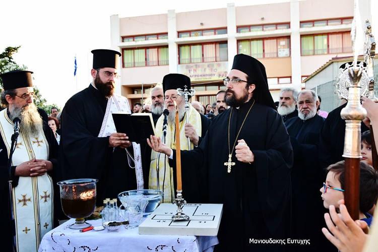 Θεμέλιος Λίθος Ιερού Ναού Αγίου Παϊσίου Αγιορείτου στη Μητρόπολη Κυδωνίας (ΦΩΤΟ)