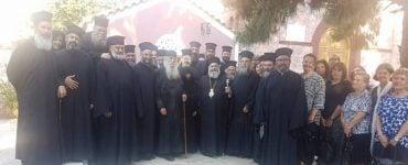 Κληρικοί της Μάνης προσκυνητές στην Αίγινα (ΦΩΤΟ)