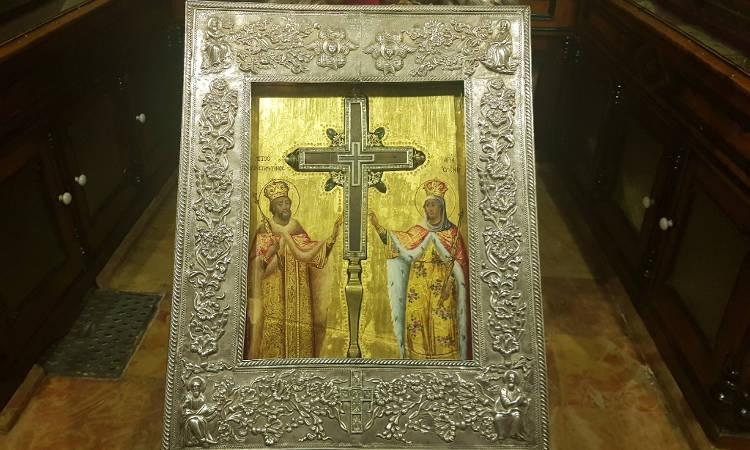 Υποδοχή Τιμίου Ξύλου από το Πατριαρχείο Ιεροσολύμων στα Τρίκαλα