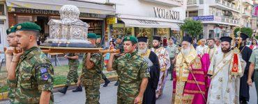 Υποδοχή Τιμίας Κάρας Αποστόλου Ανδρέου στη Βέροια (ΦΩΤΟ)
