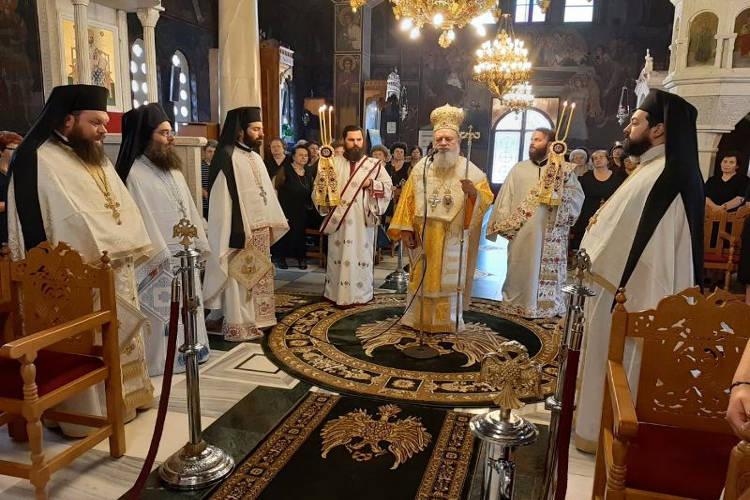 Εορτή του Αγίου Μεθοδίου στη Μητρόπολη Χαλκίδος