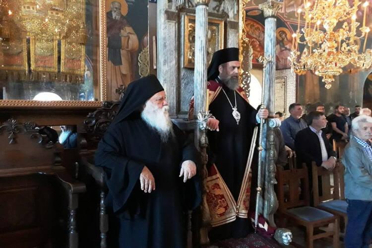 Ο Θεσσαλιώτιδος Τιμόθεος στη Μονή Οσίου Ξενοφώντος Αγίου Όρους (ΦΩΤΟ)