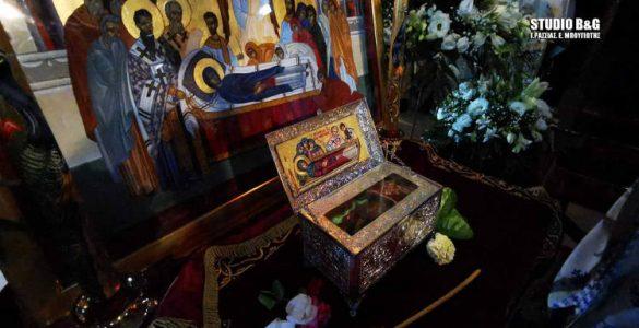 Λείψανο Οσίας Μακρίνης από το Άγιο Όρος στο Κιβέρι Αργολίδος (ΦΩΤΟ)