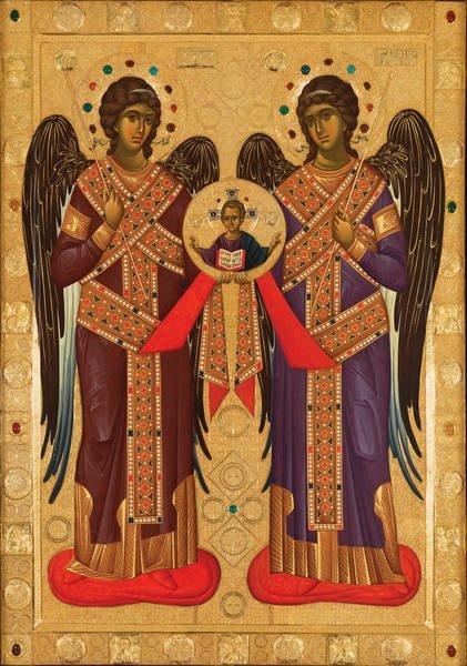 Εικόνα των Αρχαγγέλων από το Άγιο Όρος στο Πήλιο