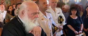 Το προσκύνημα του Αρχιεπισκόπου στην νήσο Άμπελο