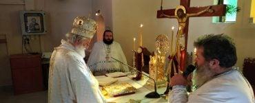 Θεία Λειτουργία στη Ιερά Μονή Αγίας Μαρίνης Βόνης