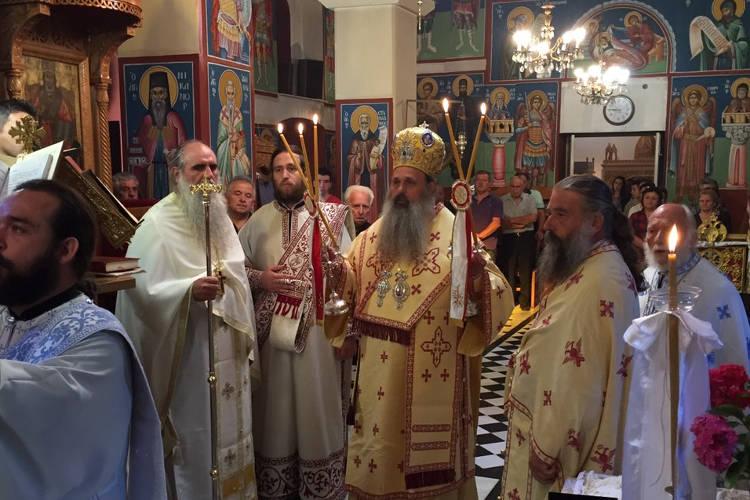 Αρχιερατική Θεία Λειτουργία στον Άγιο Βησσαρίωνα Παλαιοχωρίου