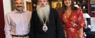Στον Μητροπολίτη Πειραιώς η νεοεκλεγείσα Βουλευτής Νόνη Δούνια
