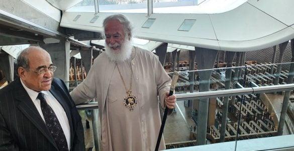 Θερμή υποδοχή του Πατριάρχου Αλεξανδρείας στην Βιβλιοθήκη της Αλεξάνδρειας