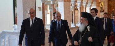 Ο Υπουργός Εξωτερικών Νικόλαος Δένδιας στο Πατριαρχείο Ιεροσολύμων
