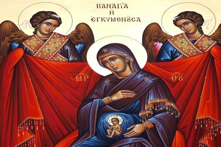 Εικόνα Παναγίας Εγκυμονούσας στην Καλλιθέα Κατερίνης | proseuxi.gr