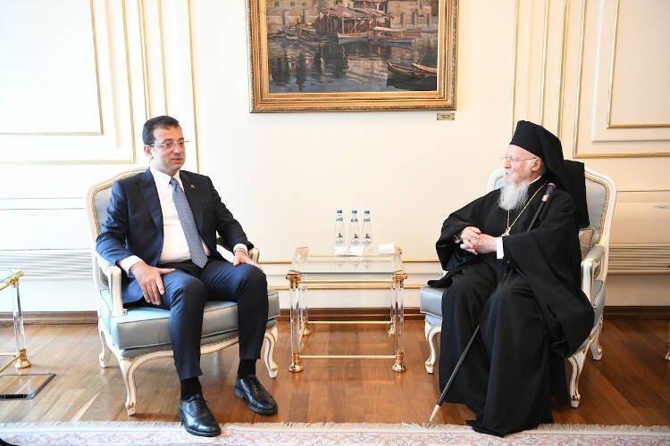 Συνάντηση Οικουμενικού Πατριάρχου με τον νέο δήμαρχο της Πόλεως Ekrem Ιmamoğlu