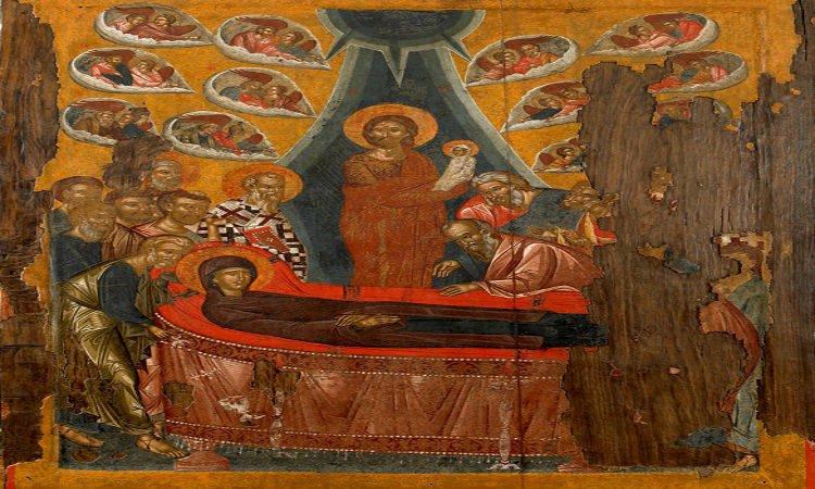 Τι είναι αυτό το μυστήριο το μέγα Αγρυπνία Αποδόσεως Κοιμήσεως της Θεοτόκου στα Τρίκαλα Πανήγυρις Κοιμήσεως Θεοτόκου Αφιδνών