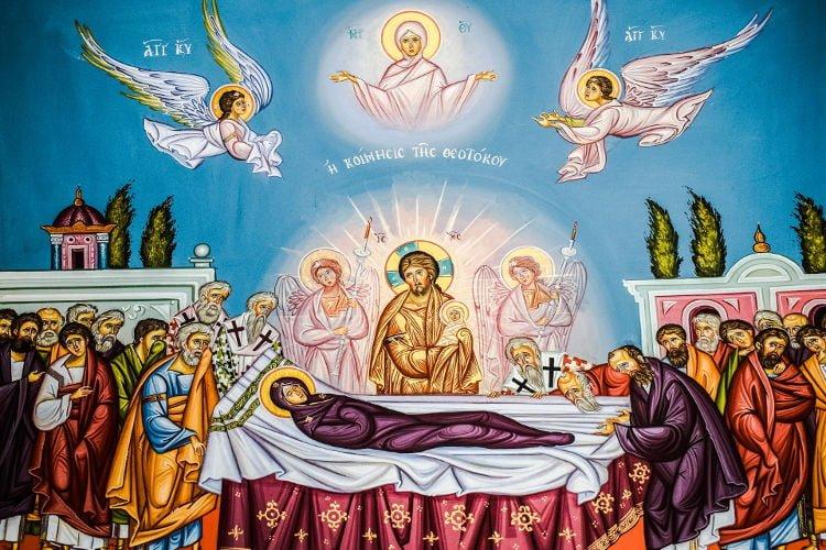 Εορτή Κοιμήσεως της Θεοτόκου Αγρυπνία Αποδόσεως Κοιμήσεως Θεοτόκου στη Νέα Ιωνία Βόλου Απόδοση της Εορτής Κοιμήσεως της Θεοτόκου