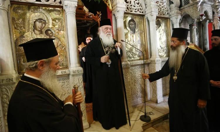 Στην Ύδρα ο Αρχιεπίσκοπος για την εορτή της Κοιμήσεως της Θεοτόκου