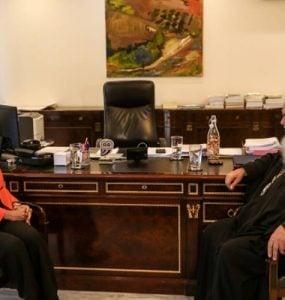 Ο Αρχιεπίσκοπος στο Υπουργείο Παιδείας