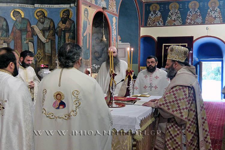 Θεία Λειτουργία και Σύναξη Κληρικών στη Μητρόπολη Ιωαννίνων