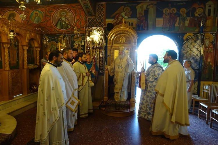 Θεία Λειτουργία στον Άγιο Φανούριο Λουτρακίου