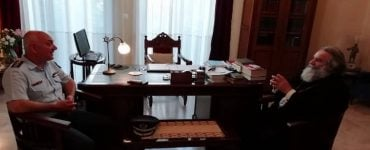 Επίσκεψη του νέου Αστυνομικού Διευθυντού Λακωνίας στον Μητροπολίτη Μάνης