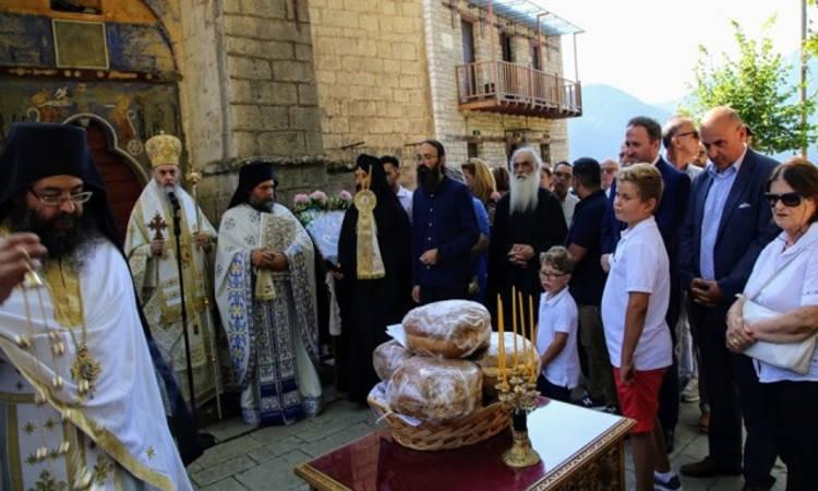 Η Κοίμηση της Θεοτόκου στη Μονή Αμπελακιωτίσσης (ΦΩΤΟ)