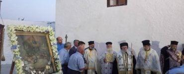 Λιτάνευση Εικόνος Κοιμήσεως Θεοτόκου στην Πάργα