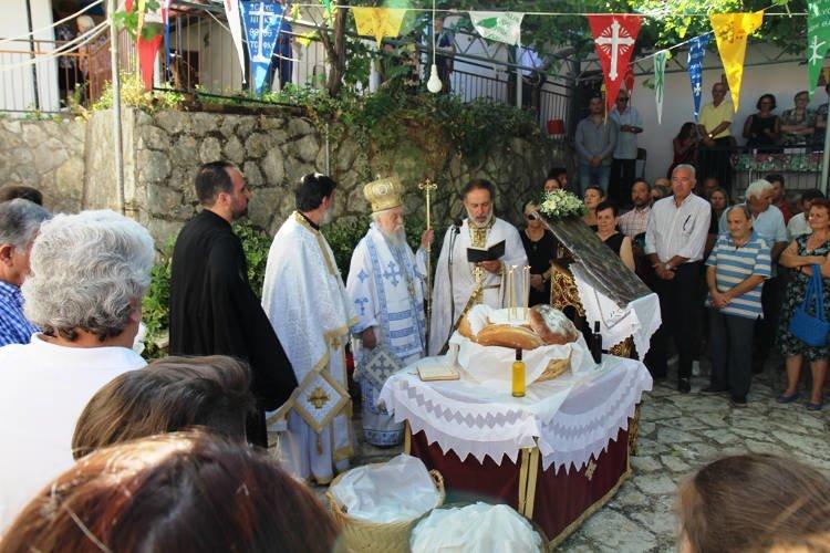 Εορτή της Κοιμήσεως της Θεοτόκου στη Μονή Παγανιών