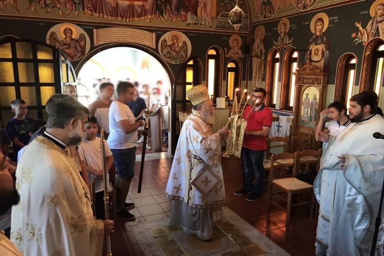 Ο Μητροπολίτης Χαλκίδος στις κατασκηνώσεις της Ιεράς Μητροπόλεως