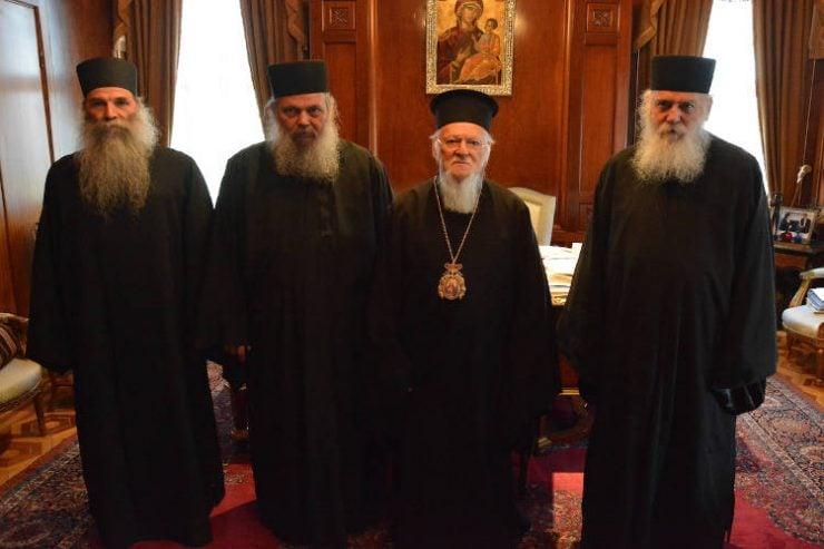 Αντιπροσωπεία της Ιεράς Κοινότητας του Αγίου Όρους στον Οικουμενικό Πατριάρχη