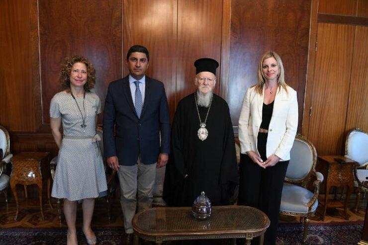 Υφυπουργός Πολιτισμού και Αθλητισμού της Ελλάδος στο Οικουμενικό Πατριαρχείο