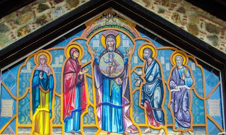 Αγρυπνία μετ' Εγκωμίων της Θεοτόκου στα Λενταριανά Χανίων Παναγία Μητέρα του Θεού αλλά και δική μας