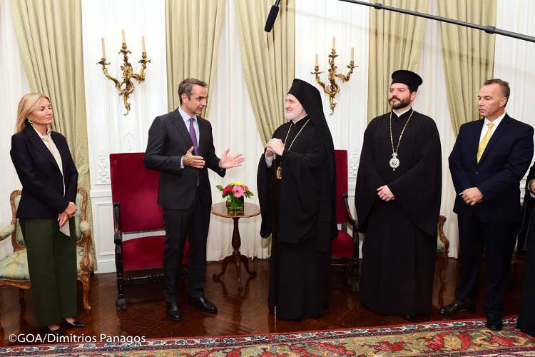 Ο Πρωθυπουργός Kυριάκος Μητσοτάκης στον Αρχιεπίσκοπο Αμερικής