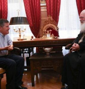 Ο νέος Διοικητής του Αγίου Όρους στον Αρχιεπίσκοπο