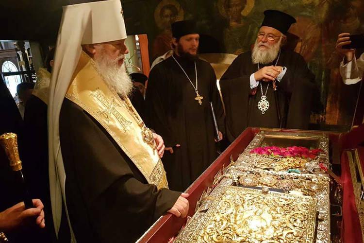 Ο Μητροπολίτης Οδησσού στον Άγιο Σπυρίδωνα στην Κέρκυρα