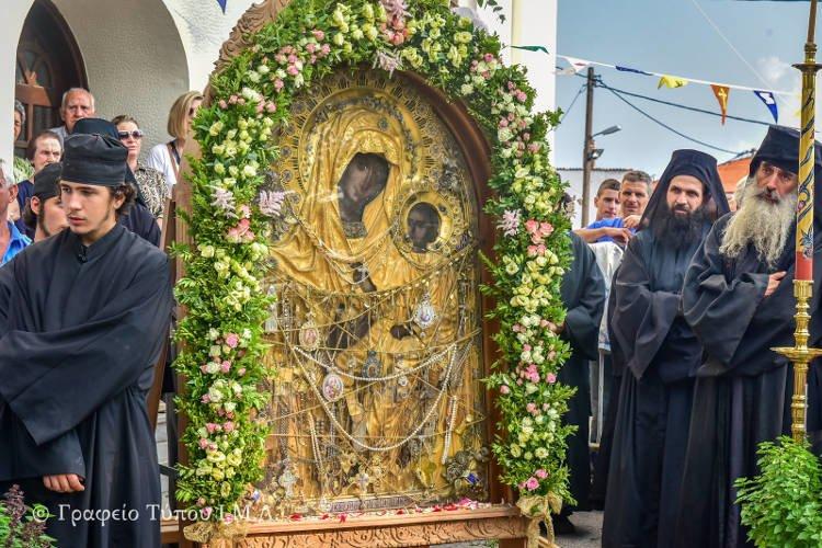 Υποδοχή Εικόνος Παναγίας Γοργοϋπηκόου στο Σοχό (ΦΩΤΟ)