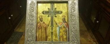 Υποδοχή Τιμίου Σταυρού από τα Ιεροσόλυμα στο Καματερό Τίμιο Ξύλο από τα Ιεροσόλυμα στα Τρίκαλα