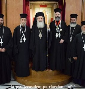 Ο Αρχιεπίσκοπος Αυστραλίας Μακάριος στον Πατριάρχη Ιεροσολύμων