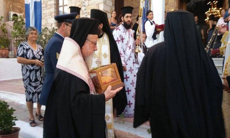Η Μητρόπολη Αιτωλίας υποδέχθηκε Λείψανο του Αγίου Νεκταρίου