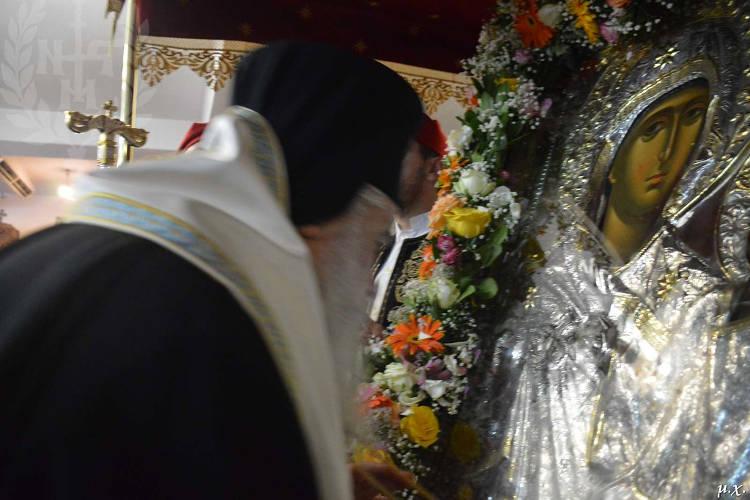 Υποδοχή Παναγίας Εσφαγμένης στον Ιερό Ναό Αγίας Ειρήνης Χρυσοβαλάντου Ευκαρπίας