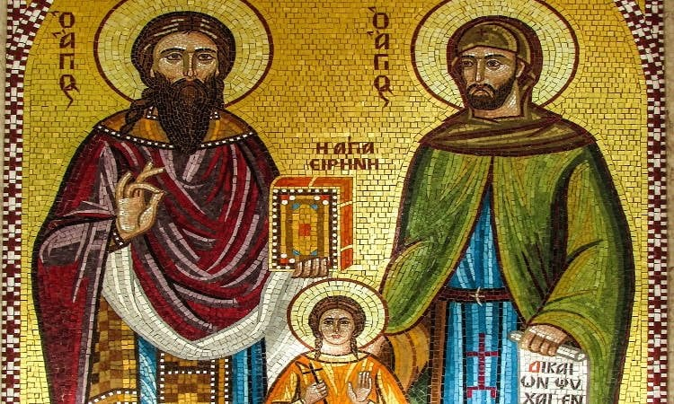 Λείψανα των Αγίων Ραφαήλ, Νικολάου και Ειρήνης στη Μητρόπολη Καρπενησίου