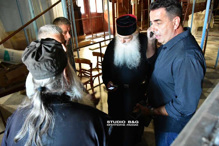 Ξεκίνησαν εργασίες συντήρησης στον Άγιο Νικόλαο Ναυπλίου (ΦΩΤΟ)
