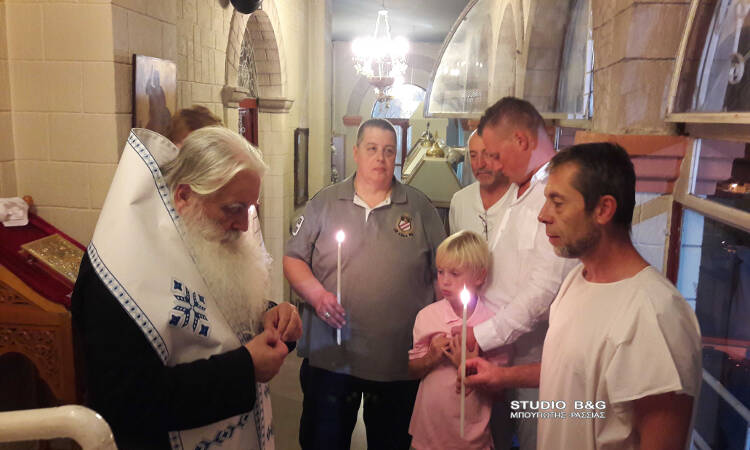 Ο Δισέγγονος του Αγίου Λουκά του Ιατρού βαπτίστηκε Ορθόδοξος Χριστιανός στο Ναύπλιο (ΦΩΤΟ)